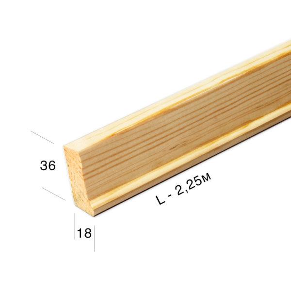 Рейка для подрамника 3618-0-225m
